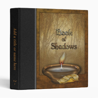 """Forest Candle Book of Shadows 1"""" Avery Binder"""