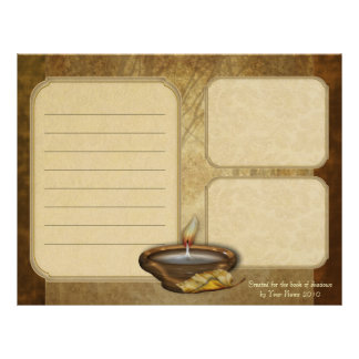 Forest Candle Keepsake Paper Letterhead