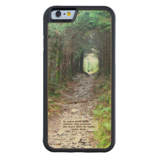 Forest Canopy Hiking Trail | Walk w/nature -Muir Carved Maple iPhone 6 Bumper Case