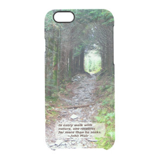 Forest Canopy Hiking Trail | Walk w/nature -Muir Clear iPhone 6/6S Case