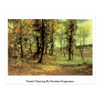 Forest Clearing By Nicolae Grigorescu Postcard