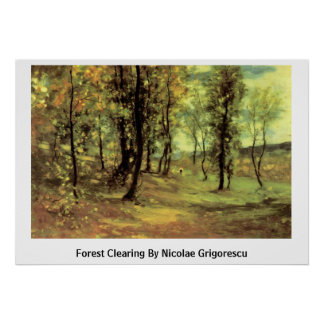 Forest Clearing By Nicolae Grigorescu Poster