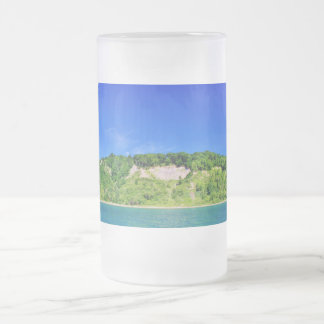 Forest Cliffs by the Lake Frosted Glass Beer Mug