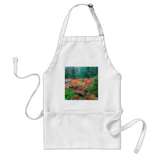 Forest Colorful Ferns In Autumn Acadia Maine Adult Apron