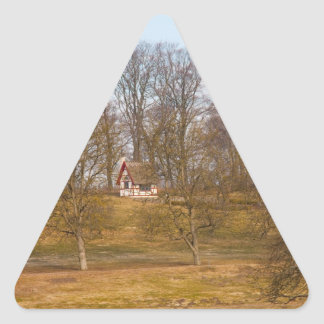 Forest cottage triangle sticker