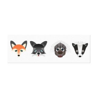 Forest Creatures 91.44cm x 30.48cm, 3.81cm, Single Canvas Print