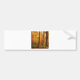 Forest Crimson Appalachian Mountains Bumper Stickers
