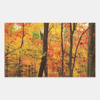 Forest Crimson Appalachian Mountains Rectangular Sticker