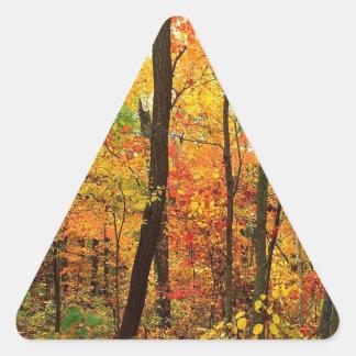 Forest Crimson Appalachian Mountains Triangle Sticker