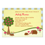 "Forest Critters Baby Shower Invitation 5"" X 7"" Invitation Card"
