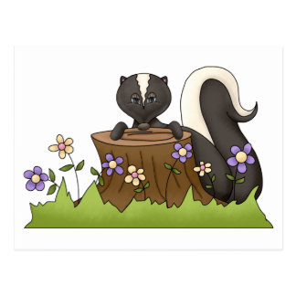 Forest Critters · Skunk Post Cards
