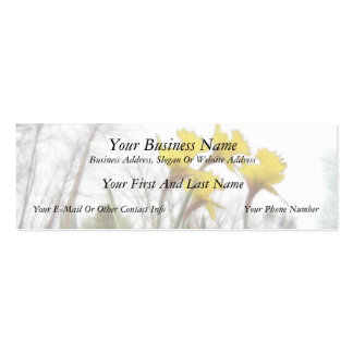 Forest Daffodils Double-Sided Mini Business Cards (Pack Of 20)