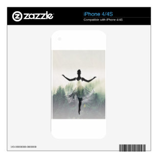 Forest Dancer Decals For iPhone 4