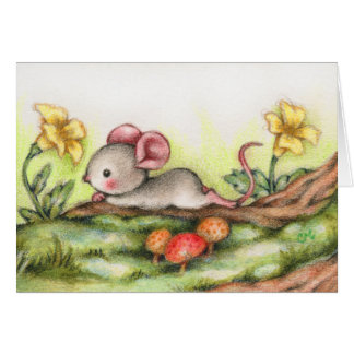Forest Daydream - Cute Mouse Art Card