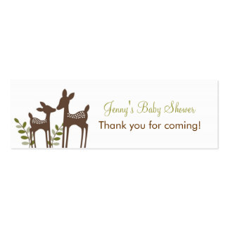 Forest Deer Forest Favor Tags Gift Tags Business Card Templates