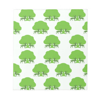 Forest Deer Pattern Note Pad