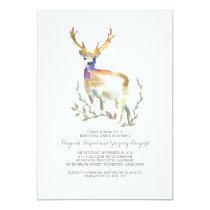 Forest Deer Rustic Rehearsal Dinner Card