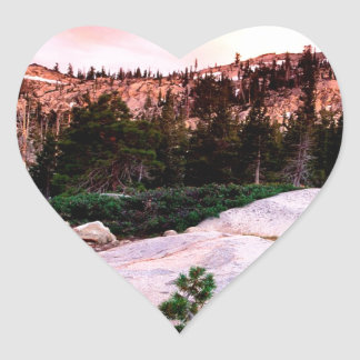 Forest Desolation Wilderness Eldorado Heart Sticker