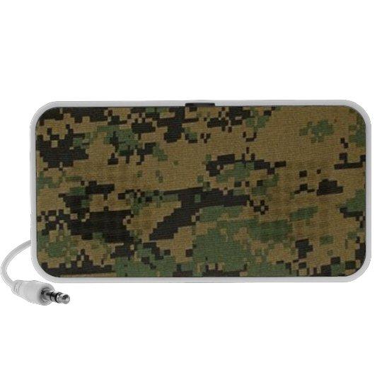 Forest Digital Camouflage Doodle Speaker