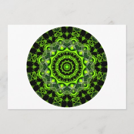 Forest Dome Mandala, Abstract Green Woods
