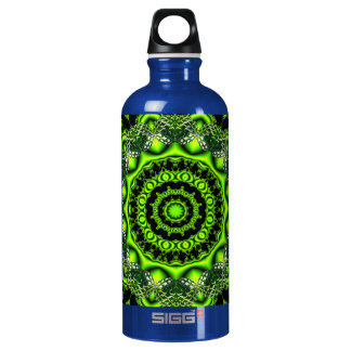 Forest Dome Mandala, Abstract Green Woods Aluminum Water Bottle
