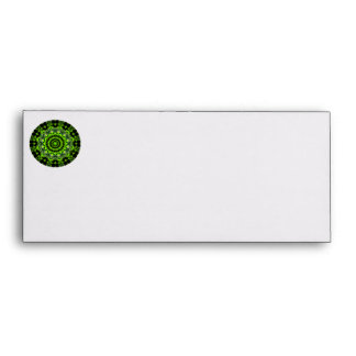 Forest Dome Mandala, Abstract Green Woods Envelope