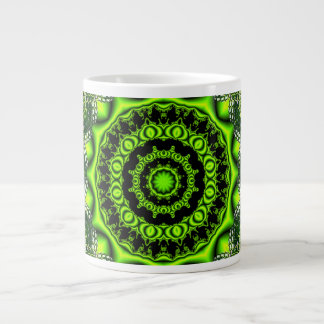Forest Dome Mandala, Abstract Green Woods Giant Coffee Mug