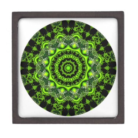 Forest Dome Mandala, Abstract Green Woods Gift Box