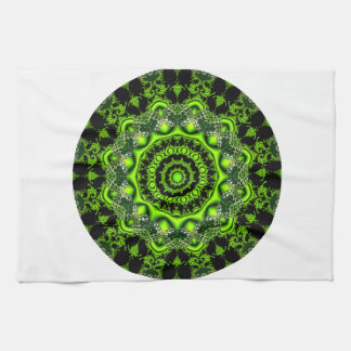 Forest Dome Mandala, Abstract Green Woods Hand Towels