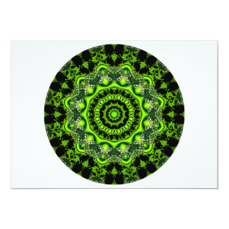 Forest Dome Mandala, Abstract Green Woods Personalized Announcements