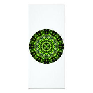 Forest Dome Mandala, Abstract Green Woods Custom Invitation