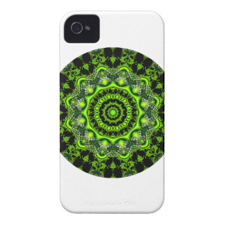 Forest Dome Mandala, Abstract Green Woods iPhone 4 Case
