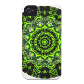Forest Dome Mandala, Abstract Green Woods iPhone 4 Cover