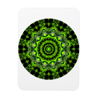 Forest Dome Mandala, Abstract Green Woods Magnet