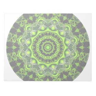 Forest Dome Mandala, Abstract Green Woods Notepad