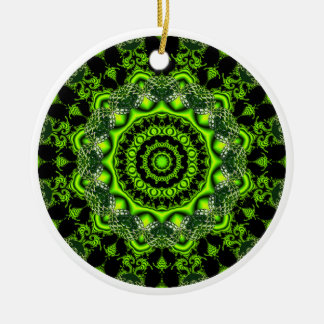 Forest Dome Mandala, Abstract Green Woods Ornament