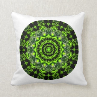 Forest Dome Mandala, Abstract Green Woods Pillows