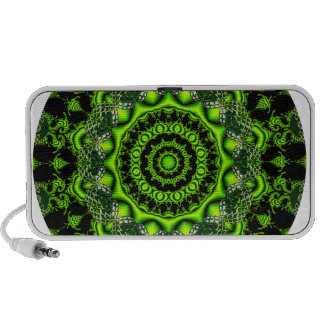 Forest Dome Mandala, Abstract Green Woods Mp3 Speakers