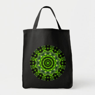 Forest Dome Mandala, Abstract Green Woods Tote Bag