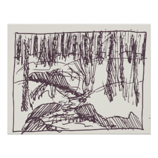 Forest Drawing Poster
