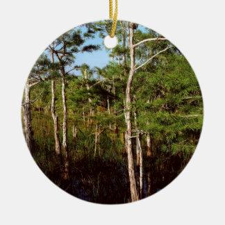 Forest Dwarf Cypress Everglades Florida Ceramic Ornament