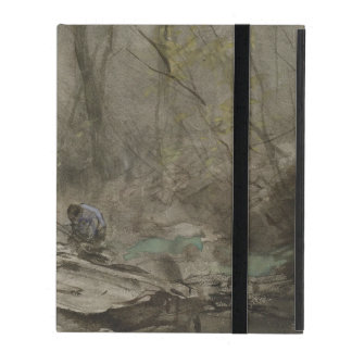 Forest edge water, anton mauve iPad cover