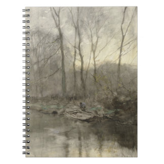 Forest edge water, anton mauve notebook