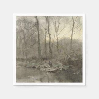 Forest edge water, anton mauve disposable napkins