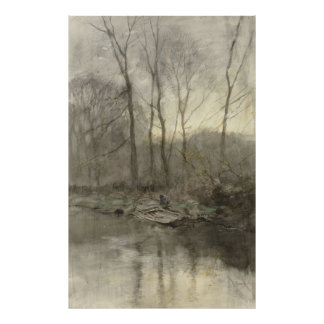 Forest edge water, anton mauve posters