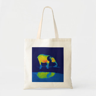 Forest Elephant and Pool Reflection Tote Bags