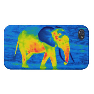 Forest Elephant - Thermal Image Cases For iPhone 4