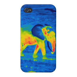 Forest Elephant - Thermal Image iPhone 4/4S Cases