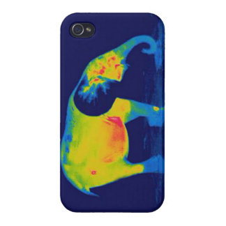 Forest Elephant - Thermal Image iPhone 4 Cases