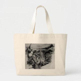 Forest Elf Fantasy Grey B/W Drawing Art Bags